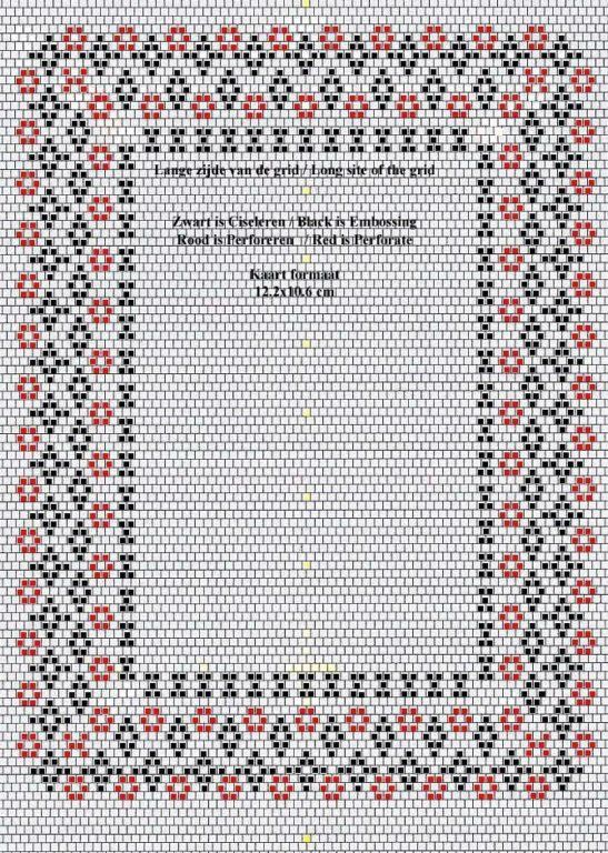 Patroon Annie 0012a Pergamano diagonaal grid