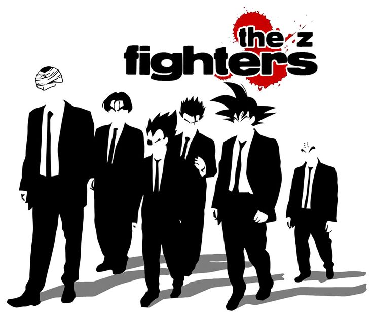 Crazy Cool DBZ Shirt Design in Reservoir Dog style! www.displacedesign.com/the-z-fighters