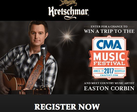 Win a $8,500.00 4-night trip for 2 to Nashville, TN; $1,200 allowance for a rental car; meals & incidentals; $2,500 to use towards taxes; 2 tickets to the CMA Music festival; and a luncheon and a meet and greet with Easton Corbin.     If you find...
