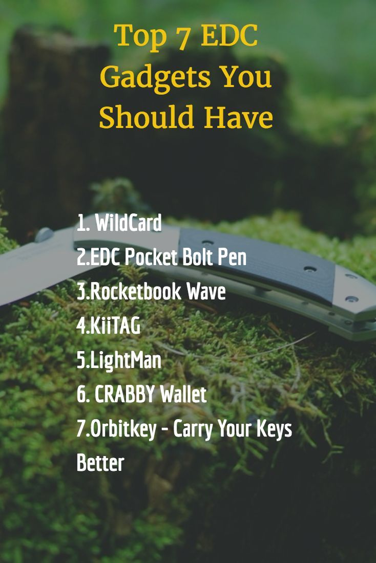 cool Top 7 EDC Gadgets You Should Have