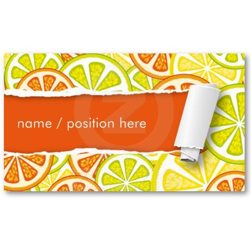 citrus design business cards  so fresh design ;)  All products with this design you can find here: http://www.zazzle.com/ann_geldesign/gifts?gp=105905801228504055