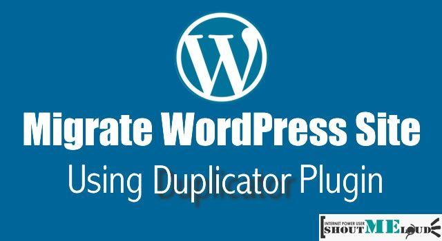 Migrate #WordPress Website