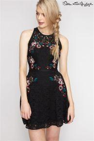 Miss Selfridge Petite Embroidered Midi Dress
