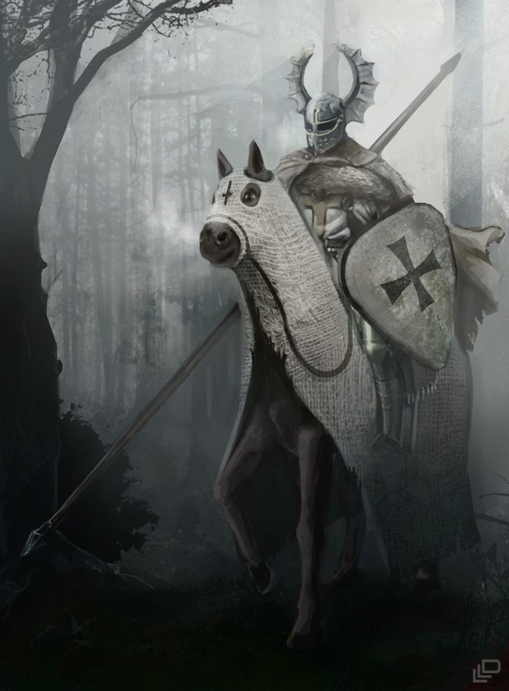 Teutonic Knight in the woods