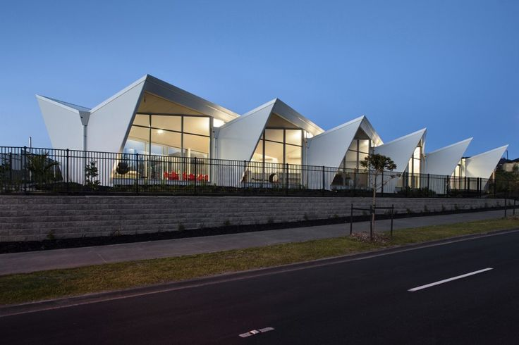 Fantails Childcare in Auckland, designed by Collingridge & Smith Architects | the striking form is reminiscent of the NZ fantail bird