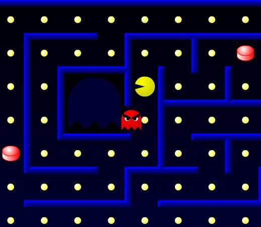 All pacman games are similar like this one. After the game generate the maze your job is to eat all the food. Try to avoid the ghost because if they catch you, you lose one life in this pacman game. But if you eat an red food then ghost fear from you and you can eat them. Good Luck!