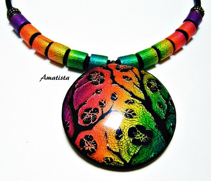 best images about everything polymer clay gargantilla sutton dichroic by el rincatildesup3n de amatista acircmiddot clay beadswire wrappingpolymer clayjewelry