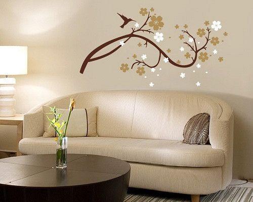 Wandtattoo - Wandtattoo |Branche mit Blumen - ein Designerstück von taia-s bei DaWanda