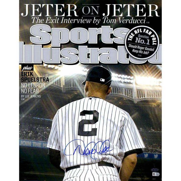 """Derek Jeter New York Yankees Steiner Sports Autographed 16"""" x 20"""" Jeter on Jeter Spots Illustrated Magazine Cover Photograph"""