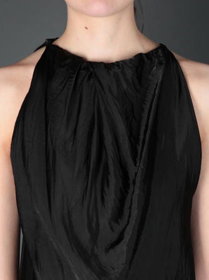 RICK OWENS black column dress