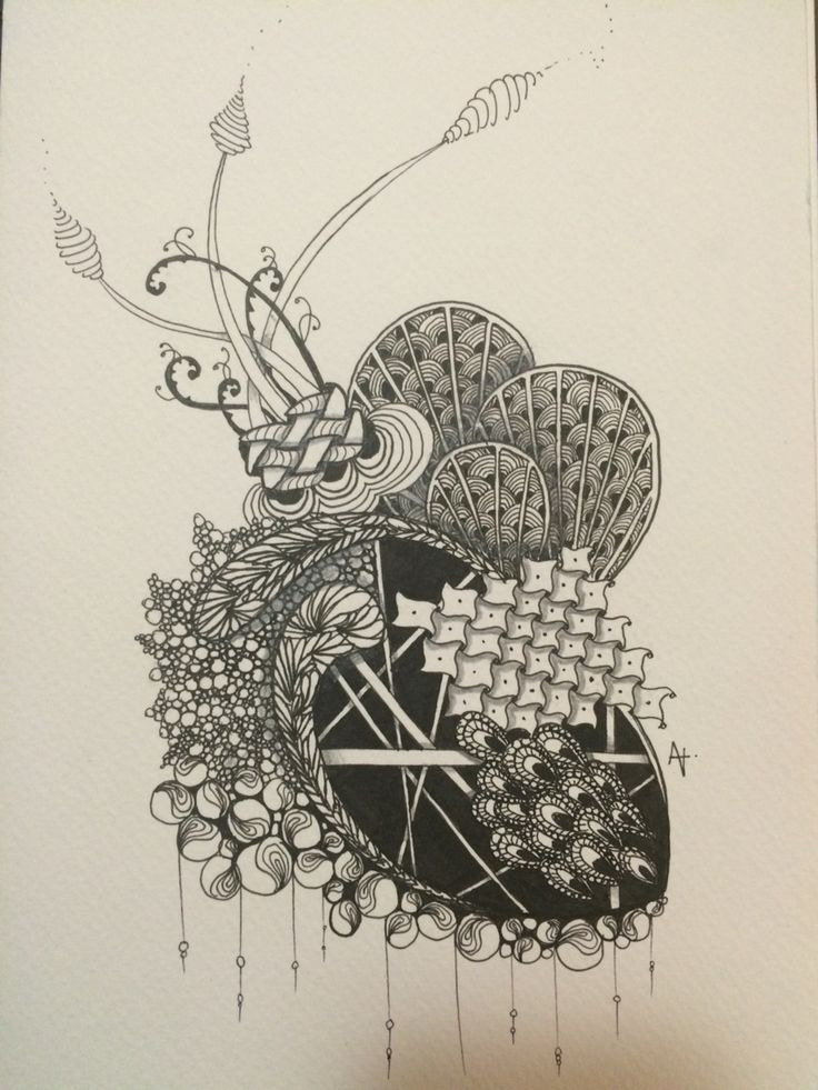Zentangle inspired art by Amber