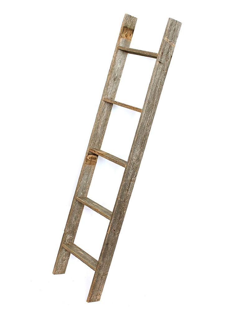 Barnwoodusa rustic 4 foot decorative ladder
