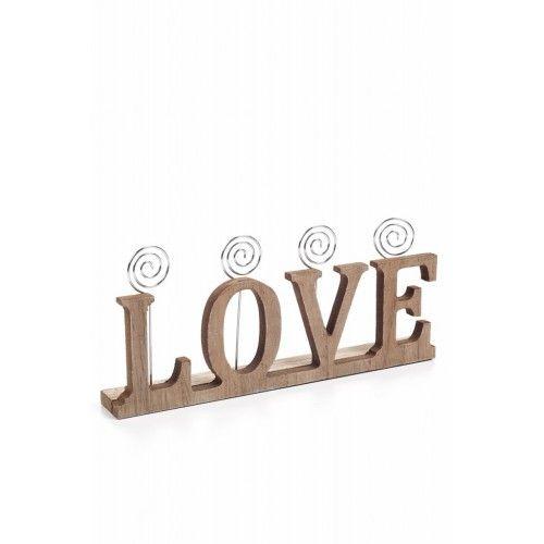 Decotown Ahşap Love Yazılı Kartlık