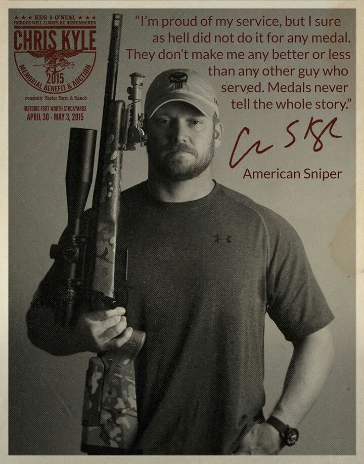 American Hero....RIP Chris Save those thumbs & bucks w/ free shipping on this magloader I purchased mine http://www.amazon.com/shops/raeind  No more leaving the last round out because it is too hard to get in. And you will load them faster and easier, to maximize your shooting enjoyment.  loader does it all easily, painlessly, and perfectly reliably