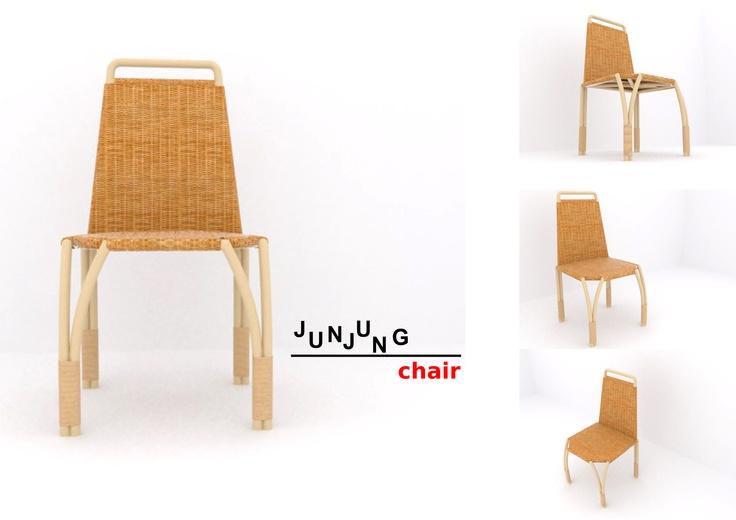 junjung chair by brigitta heni
