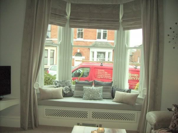 Victorian Terrace Bay window seat