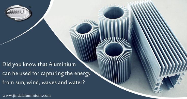 Did you know that aluminium can be used for capturing the energy from sun, wind, waves and water? Being an excellent material for engineering, aluminium is also a great thermal and electrical conductor and is thus used in solar panels and other renewable power facilities and infrastructures. #JAL | #AluminiumExtrusion | #LeadingAluminiumExtrusionManufacturer
