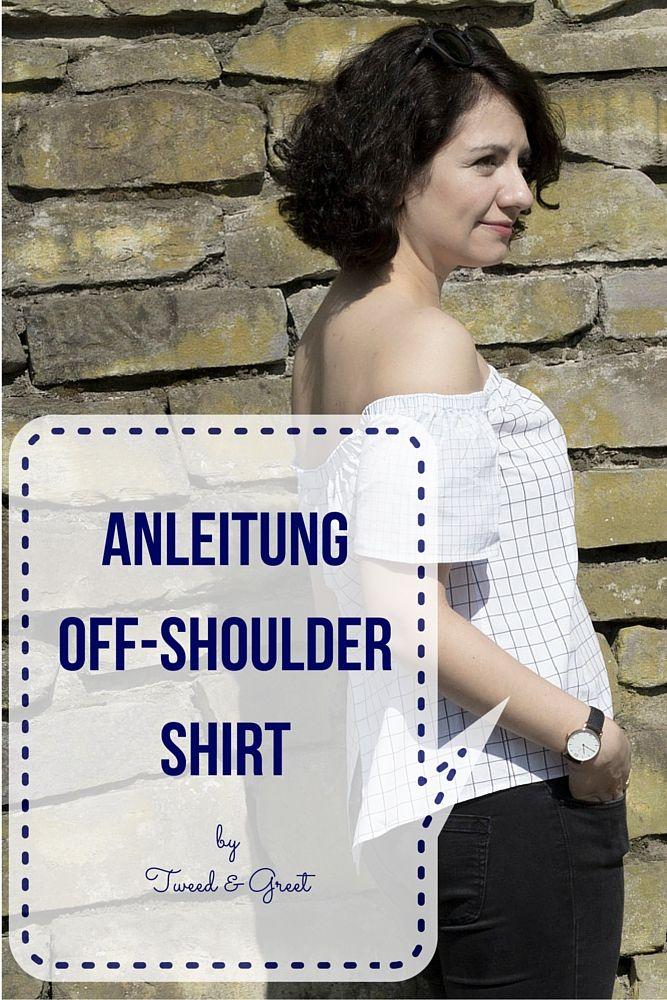 Den Off-the-Shoulder Look nachnähen. Yeah! Ihr Lieben, heute gibt's eine DIY-Anleitung, wie ihr selbst ein off-the-shoulder-shirt nähen könnt.
