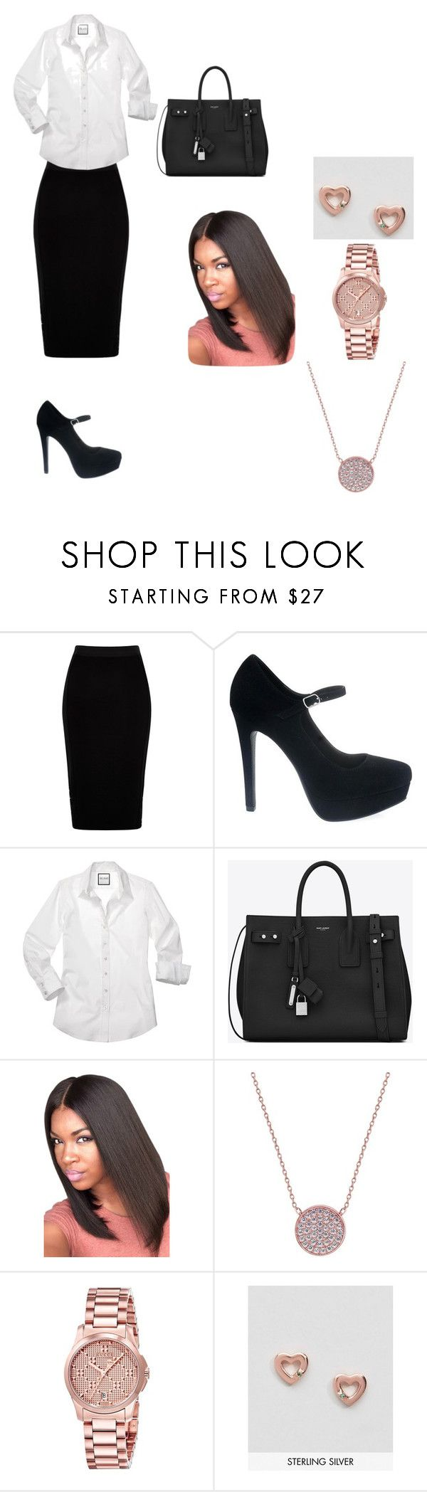 """Job Interview"" by d-rain1 on Polyvore featuring River Island, Yves Saint Laurent, CARAT* London, Gucci and Johnny Loves Rosie"
