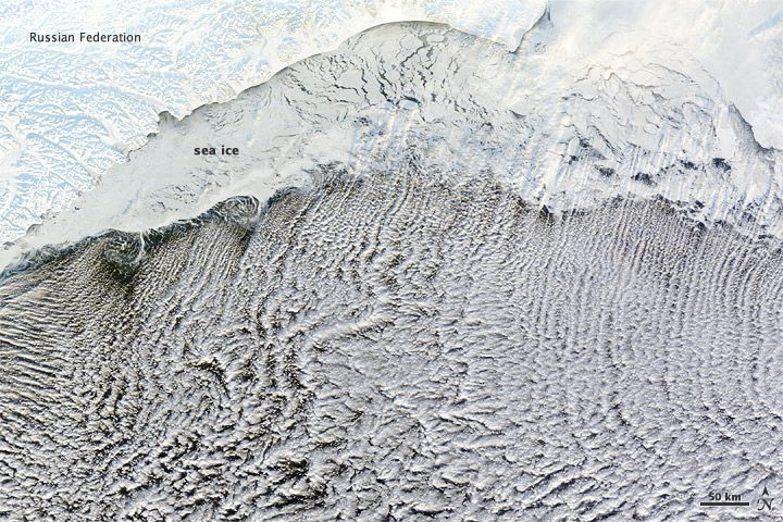 'Cloud Streets' Over Bering Sea | OurAmazingPlanet.com