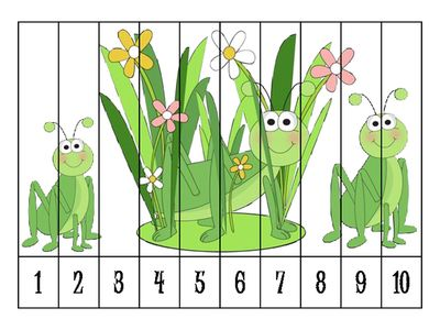8 Spring Number Order Puzzles FREEBIE from Klever Kiddos on TeachersNotebook.com - (8 pages)