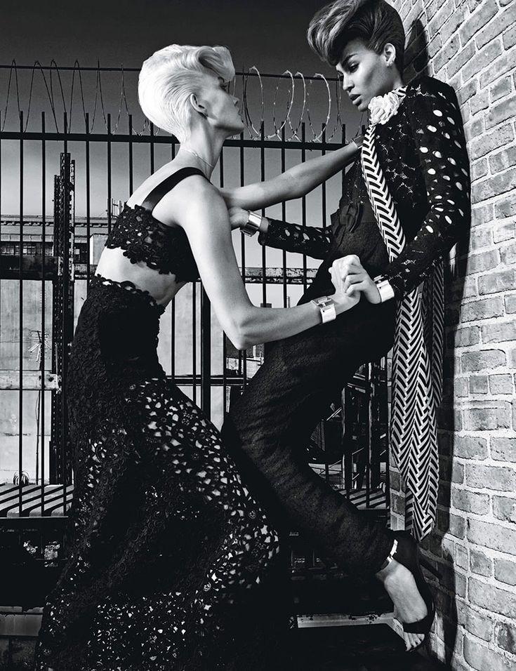 Joan Smalls & Karlie Kloss by Steven Klein for W November 2014