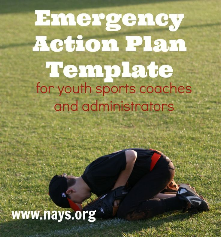 Free emergency action plan template for youth sports coaches and, administrators and team mom. Prepared for injuries and incidents!