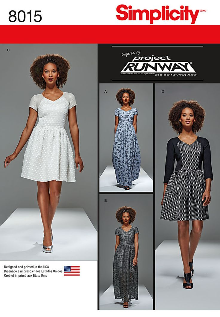 S8015 Misses' and Miss Petite Project Runway Dresses