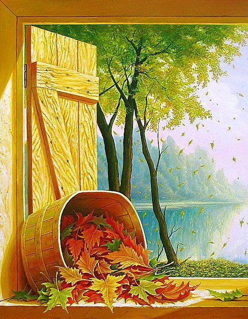 Окно в осень..., оригинал