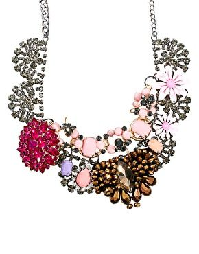 Enlarge ASOS Premium Jewelled Flower Collar Necklace