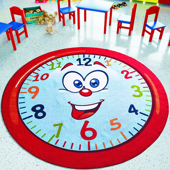 Antdecor Happy Hour Design Kids Rugs Anti Slip Anti Alergetic