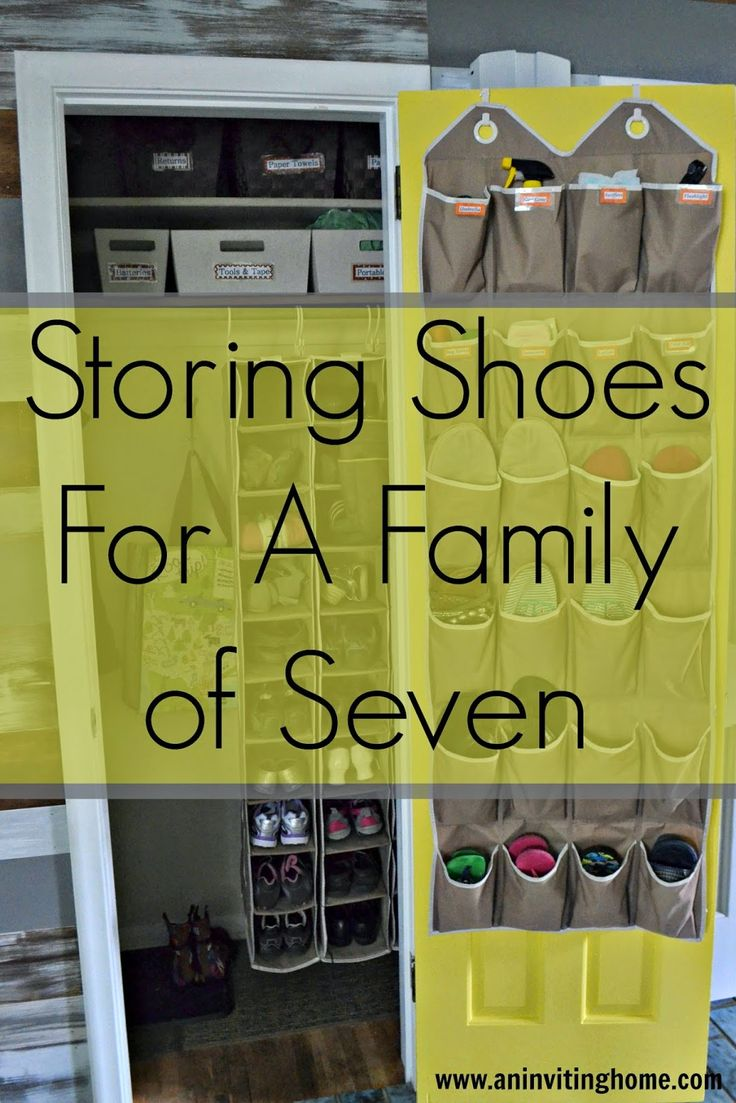 Charming Storing Shoes For A Family Of Seven #smallclosetstorage #nomudroom  #govertical