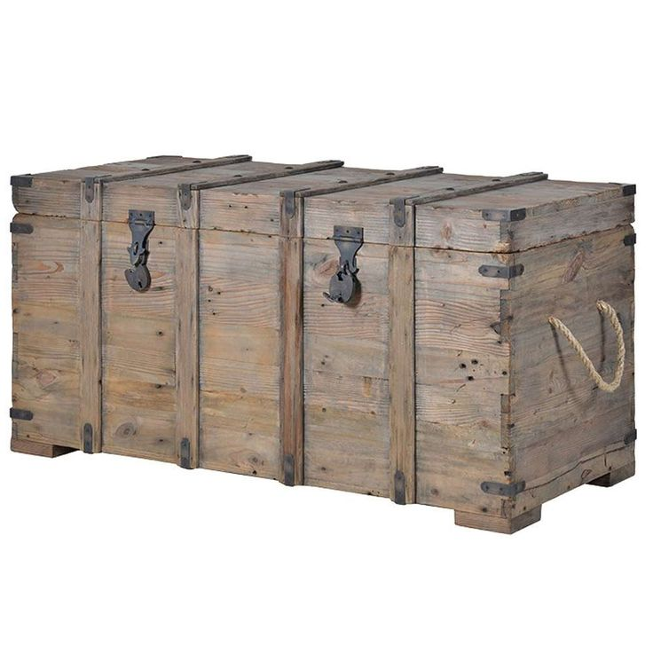 Chateauneuf Rustic Wood Trunk | Rustic Storage Trunk