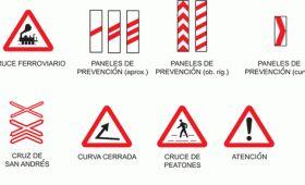 Señales viales preventivas de máxima precaución