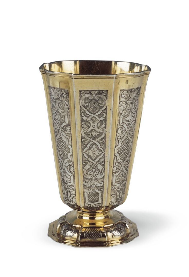 Michael May II Transylvanian parcel-gilt silver beaker from Brassó/Kronstadt/Brasov, dated 1739. Sotheby's auction.