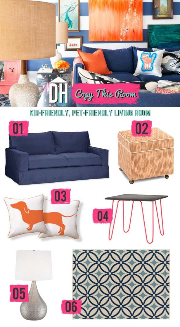 Copy This Room Design A Kid And Pet Friendly Living