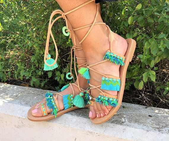 Greek sandals Made in Greece Leather craftHandmade Ancient