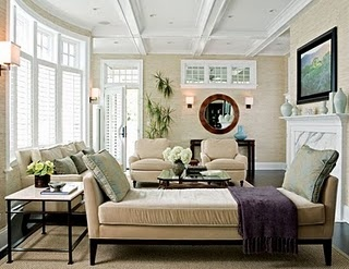 Daybed In Living Room. With Side Table