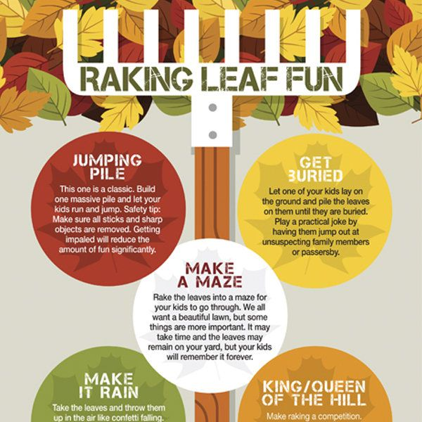 Hit the yard and bond with your family doing these 5 fun raking leaf games.