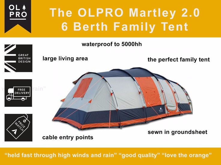 The perfect #family #tent #c&ing //.olproshop.  sc 1 st  Pinterest : best 6 berth tent - memphite.com