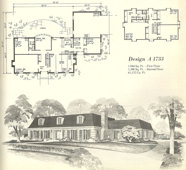 ideas about Vintage House Plans on Pinterest Bungalow