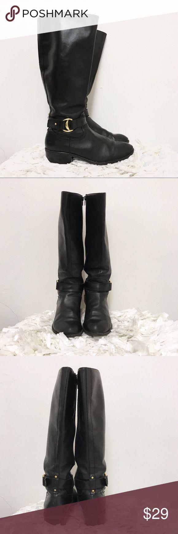 Ralph Lauren Micah boots sz 7 black leather Ralph Lauren boots. Sz 7. Overall good condition. Heels show some wear as pictured. Ralph Lauren  Shoes
