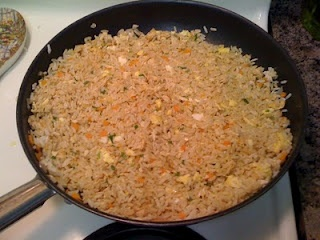Benihana Chicken Fried Rice ** really good, but I need to remember to use day old rice for it. Fresh rice gets too wet once you add all of the butter and soy sauce.