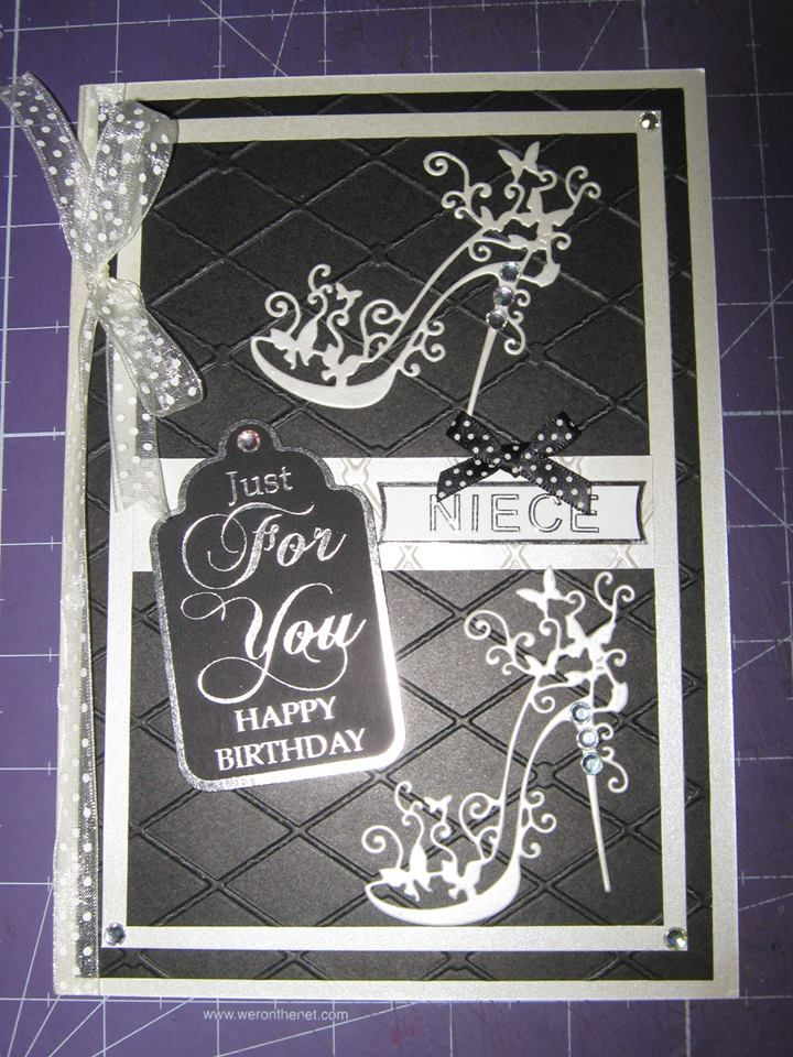 Happy Birthday Tattered Lace Shoe Card 2