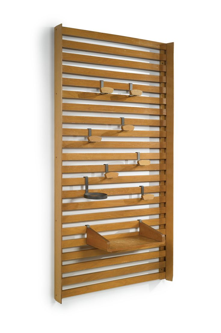 Le Corbusier; Oak, Walnut and Iron Rack, 1950s.