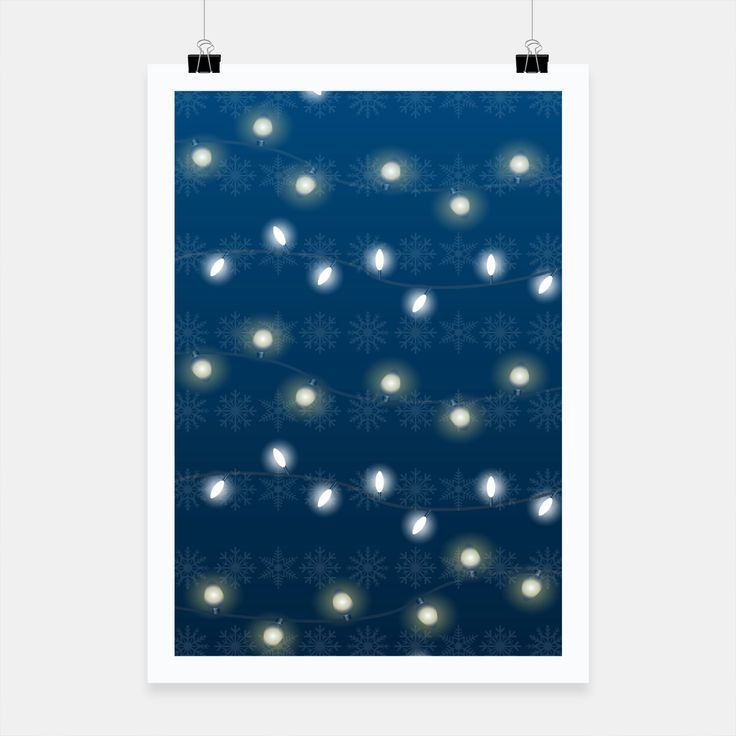 Christmas Light Blue Poster, Live Heroes