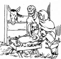 christmas nativity kids coloring pages with free colouring pictures to print - Nativity Coloring Pages For Kids