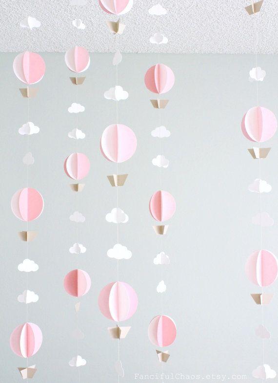 Hot Air Balloon Paper Garland Wedding Birthday by FancifulChaos