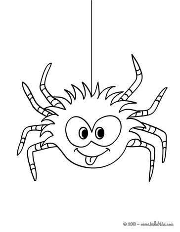 Funny spider coloring page