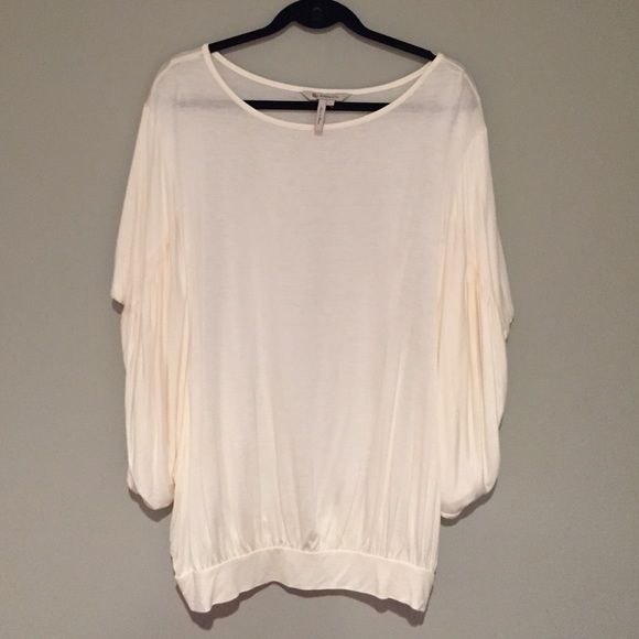 BCBGgeneration Cream Batwing Top NWOT- Soft comfy off white batwing top. Never worn. No Trades. Thanks for shopping :) BCBGeneration Tops